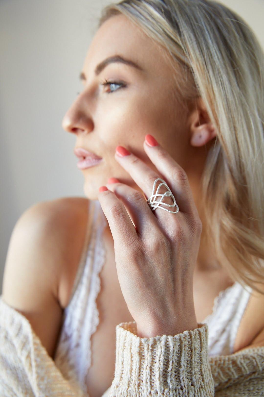 silber ring am model